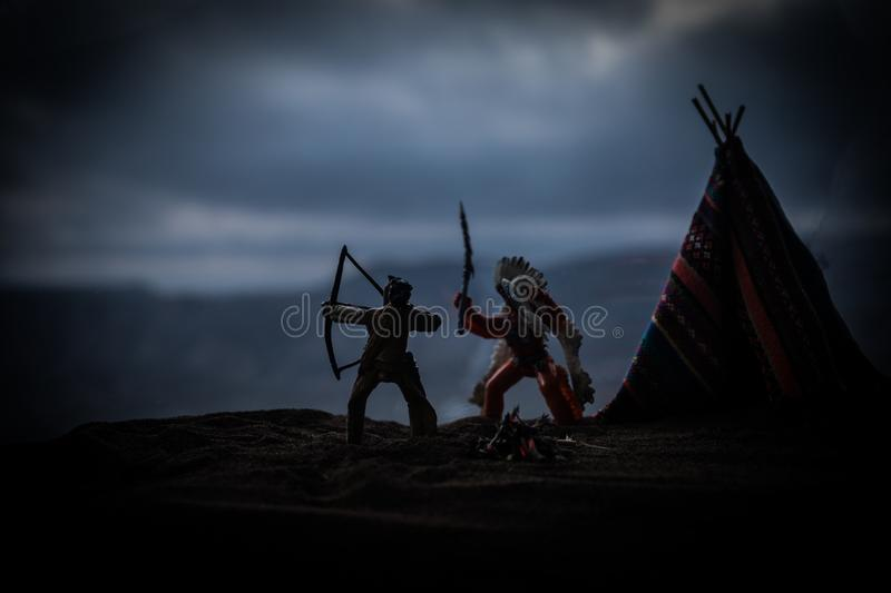 An old native american teepee in the desert royalty free stock images