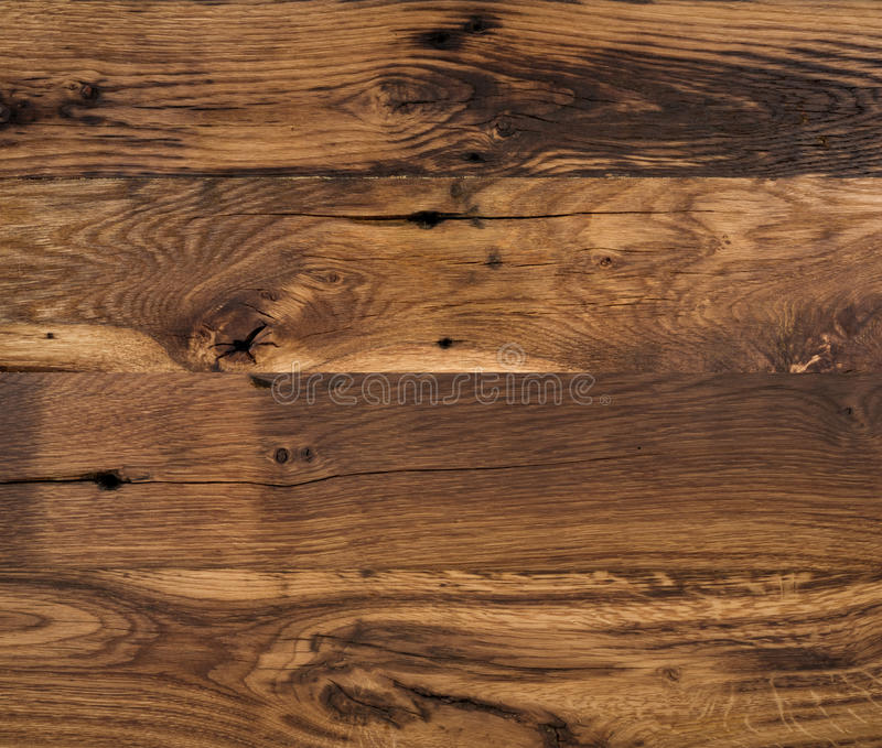 Old natural oak wood texture background, close-up stock image