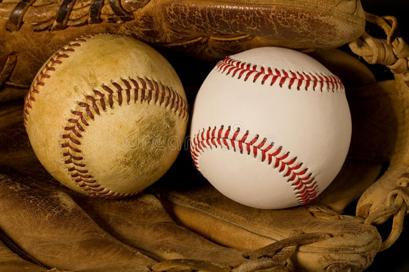 Download Old and New Baseballs stock photo. Image of closeup, sport - 12850718