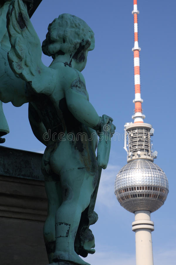 Old and new berlin royalty free stock photography