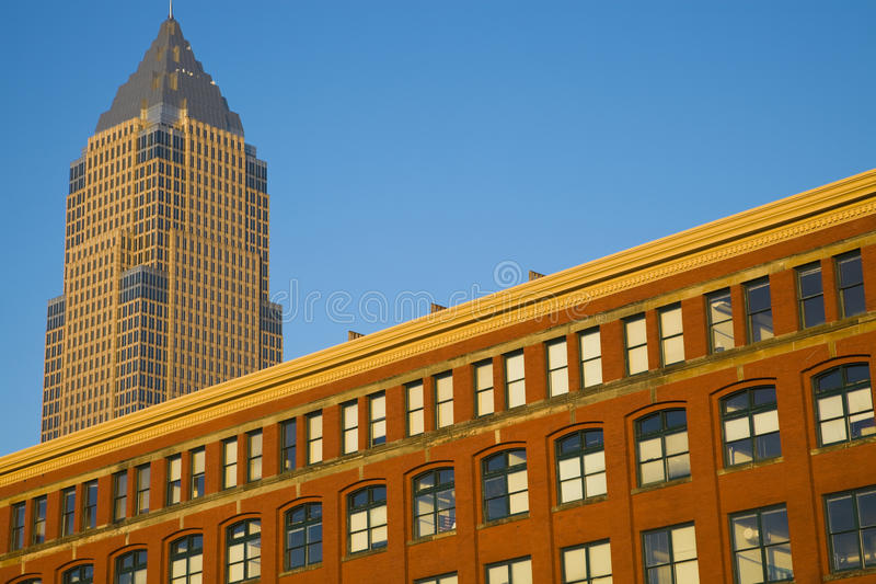 Old and new - colorful buildings royalty free stock images