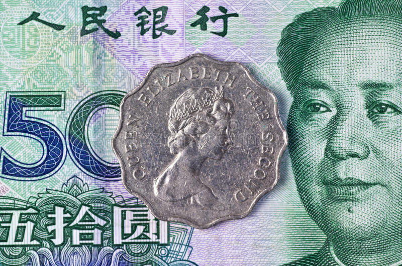 Old and new currency of Hongkong