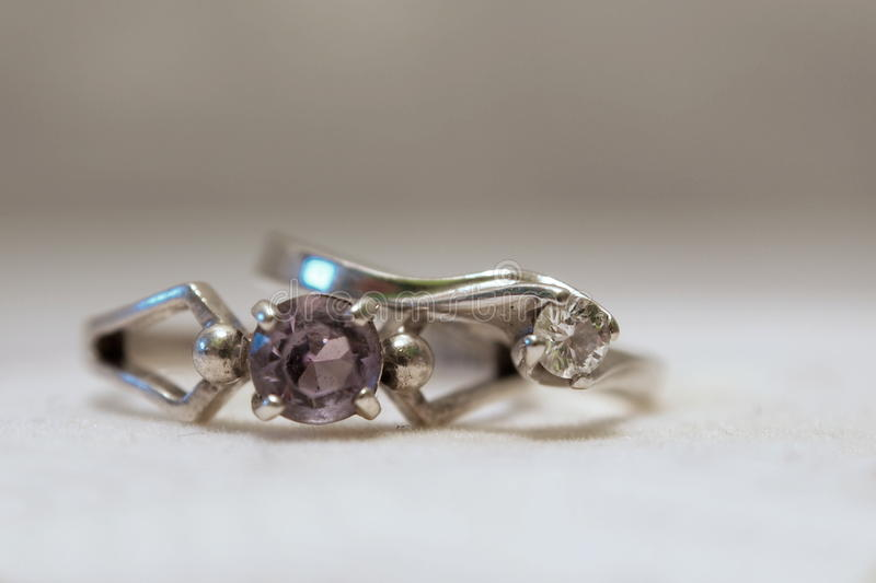 Old And New Engagement Ring royalty free stock images