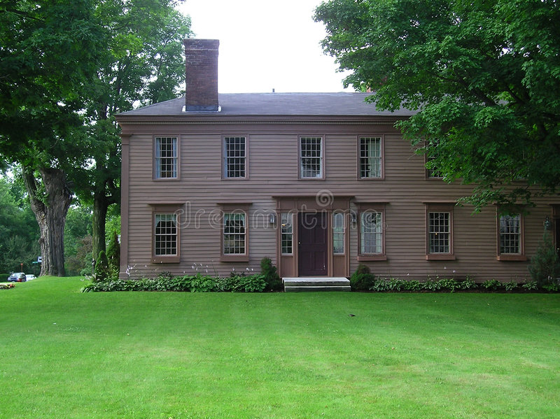 Old New England Georgian Colonial Style House Royalty Free Stock Photo