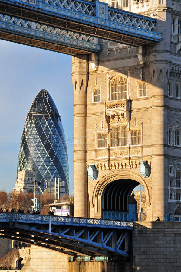 Old & New London Architecture royalty free stock photos