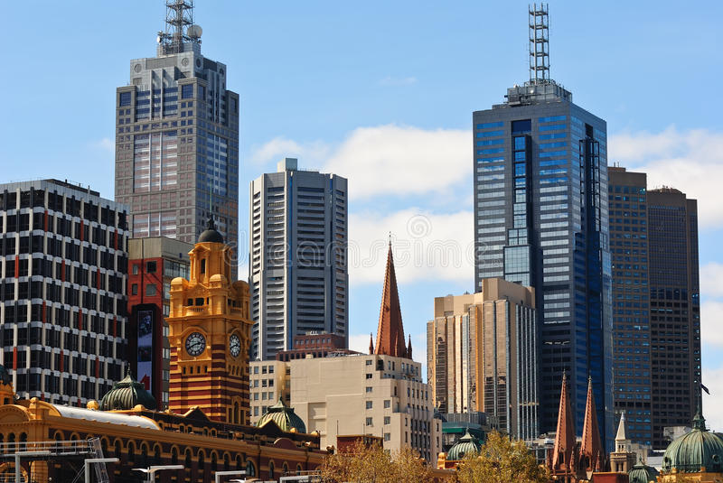 Download Old and New Melbourne stock photo. Image of finance, business - 13651208