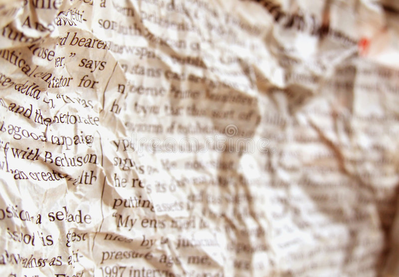 Old new paper. Close-Up of Old new paper royalty free stock photo