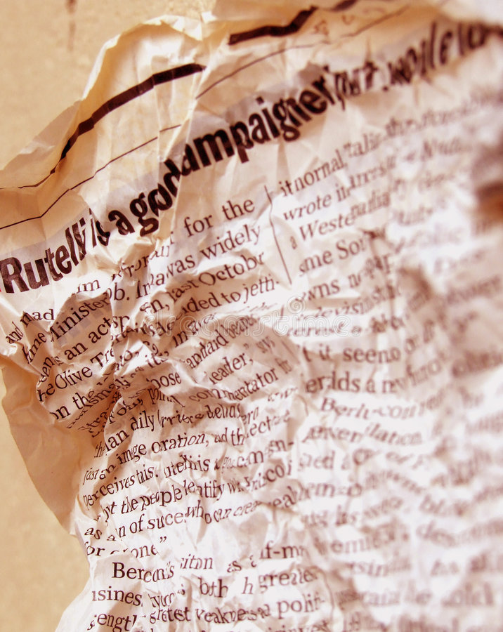 Old new paper. Close-Up of Old new paper royalty free stock image