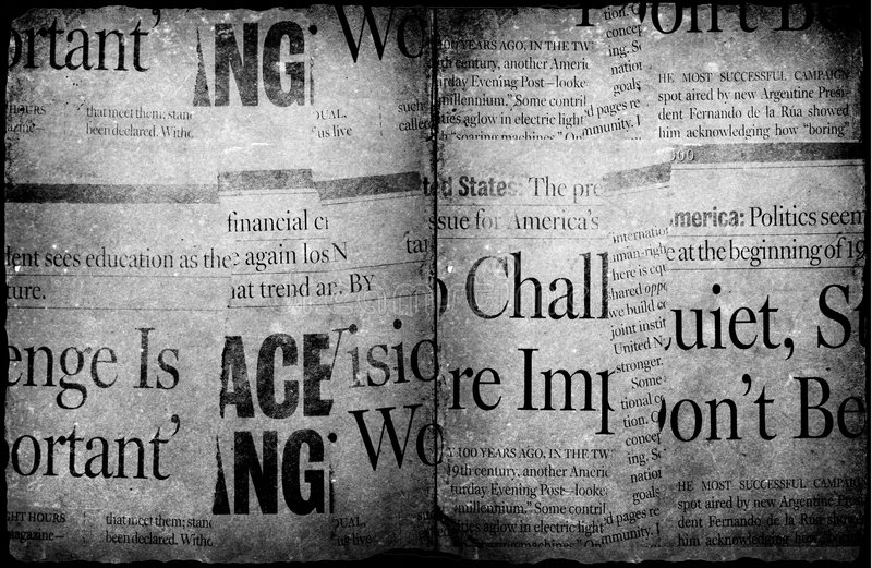 Old new paper. News paper text with old paper royalty free stock photos