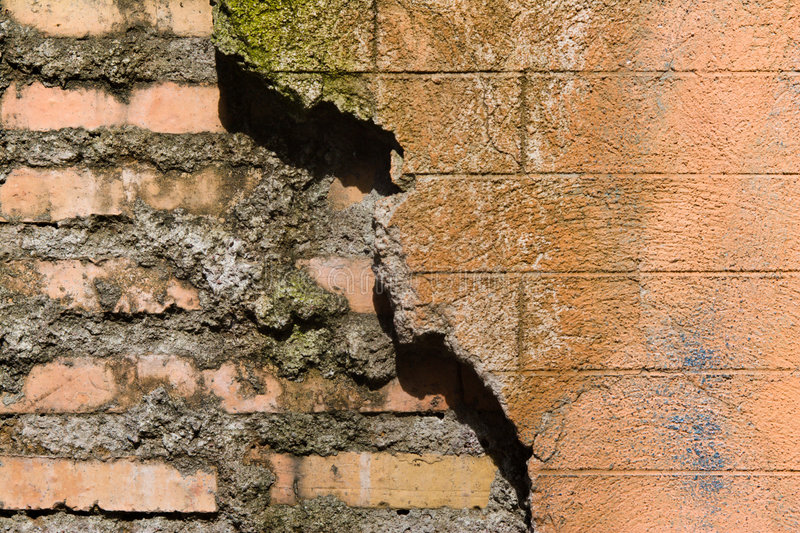 Download Old And New Part Of Brick Wall Stock Photo - Image: 2319496