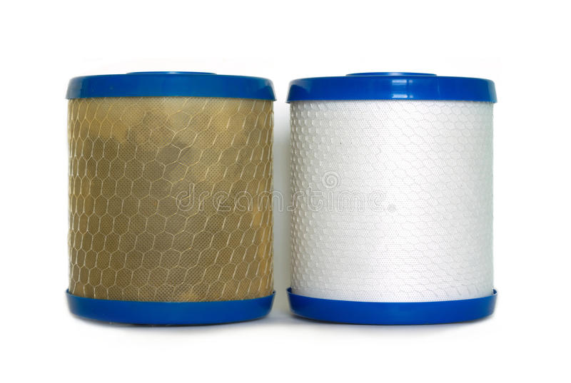 Old And New Water Filter Stock Photo