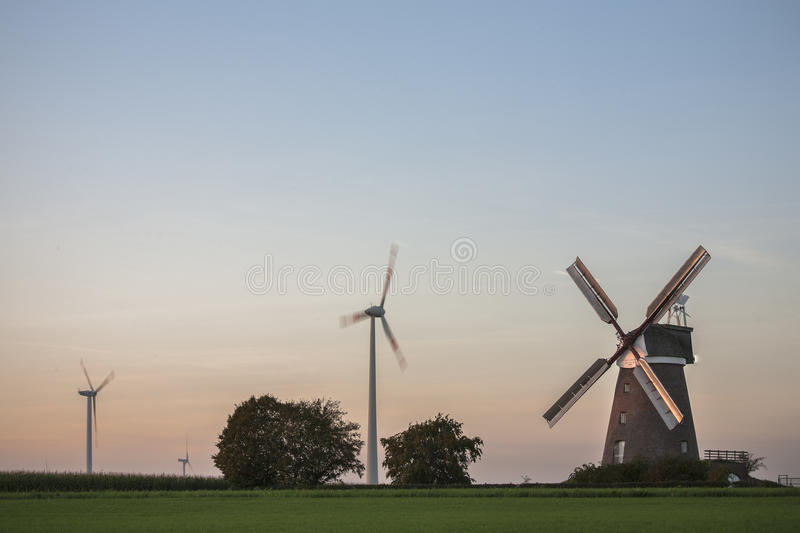 Download Old and new windmills stock photo. Image of windmill - 37556376