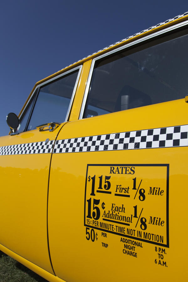 Old New York Cab Rates stock photo. Image of york, taxi - 10710822