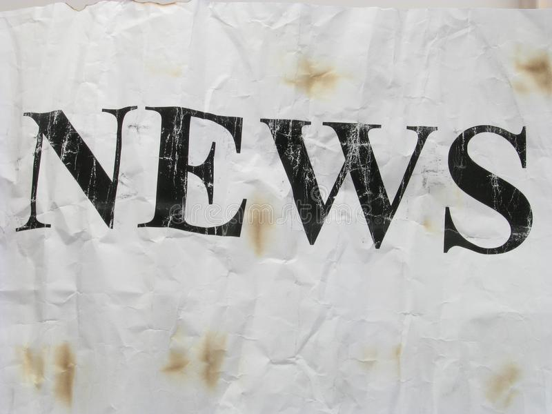 Old news royalty free stock photo