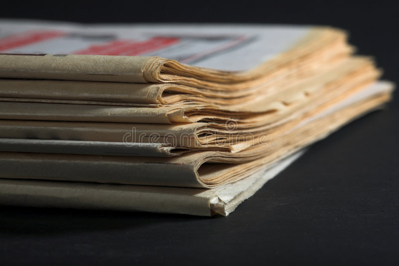 Old newspaper stock image