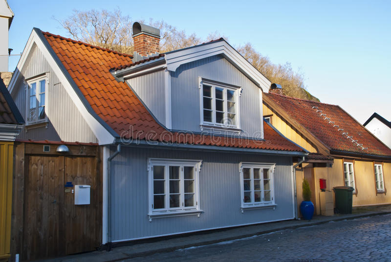 Old Nice House In Halden. Stock Photography