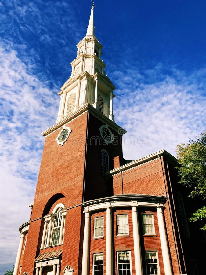 Old north church in Boston stock photo
