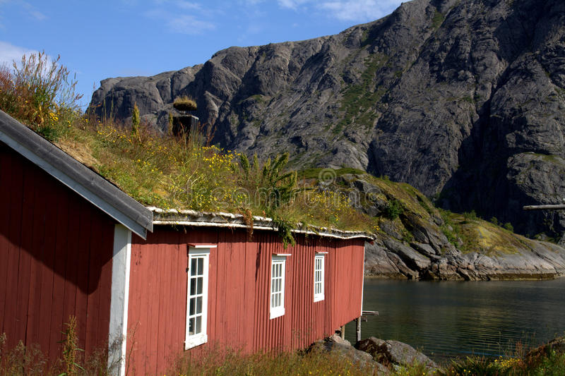 Old Norwegian Fishing Hut Royalty Free Stock Photos