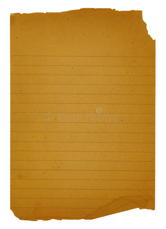 Old Note Paper stock photography