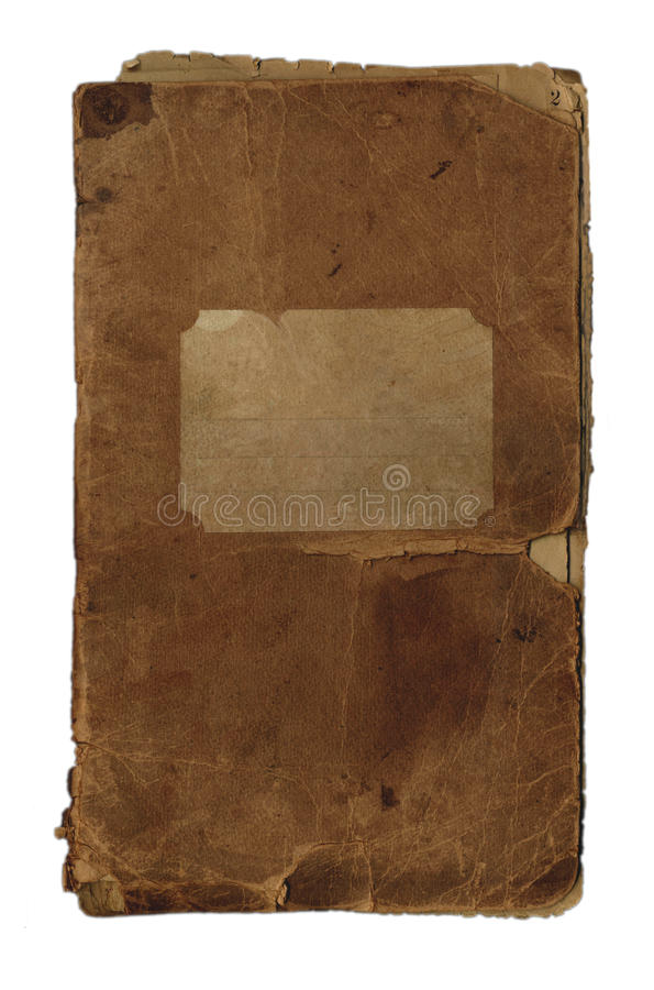 Old notebook. royalty free stock image