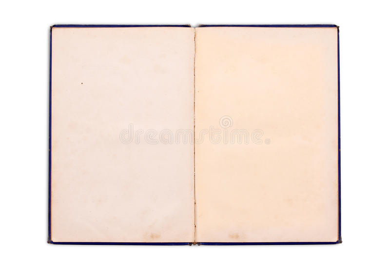 Old notebook. With blank pages isolated on white stock photos