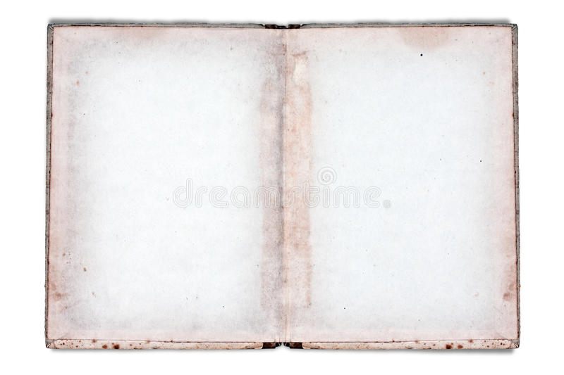 Old notebook. With space for text or image isolated on white royalty free stock photography