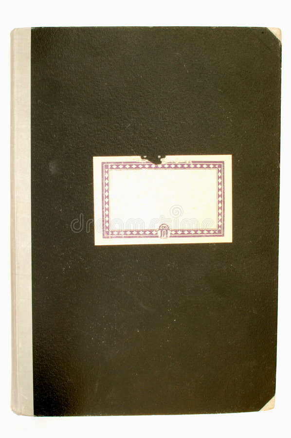 Old notebook cover #2 royalty free stock image