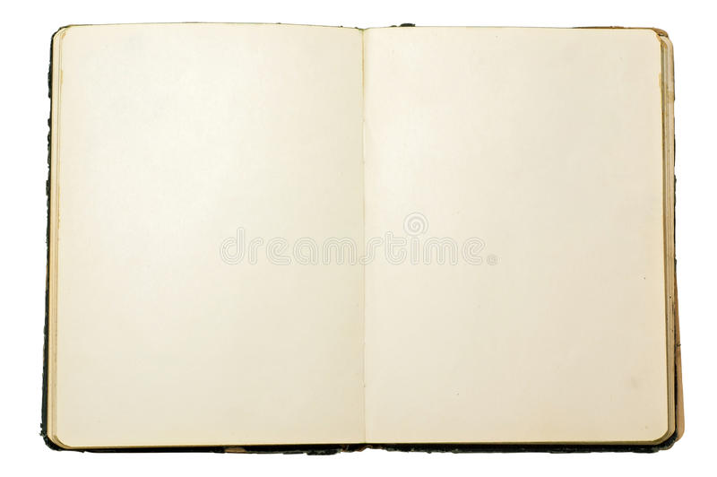 Old blank open notebook royalty free stock image
