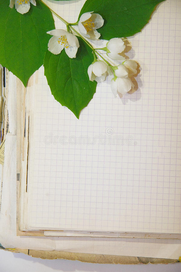 Old Notebook stock photos