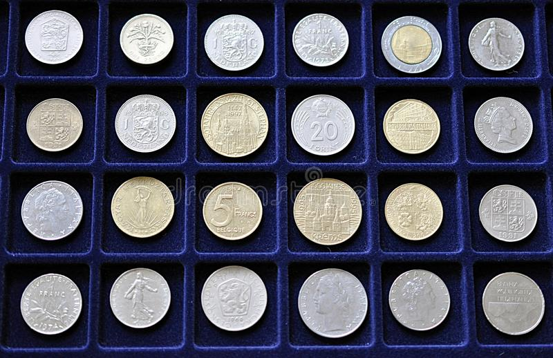 Old numismatic coins stock photos
