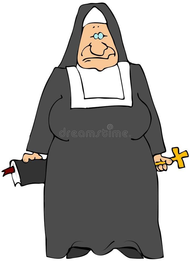 Download Old Nun stock illustration. Illustration of lady, crucifix - 7045952