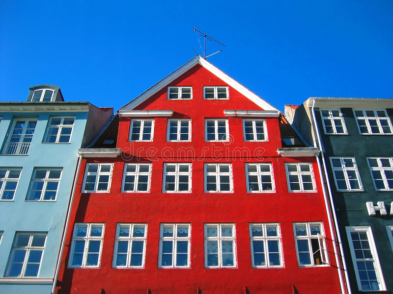 Old Nyhavn - Modern Copenhagen royalty free stock photo