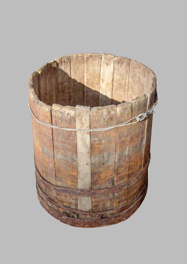 Old oak barrel stock photography