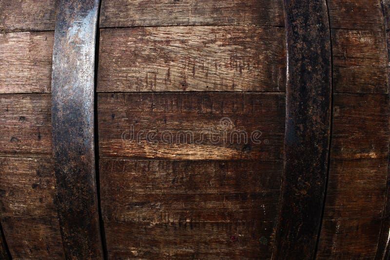 Old oak barrel stock image