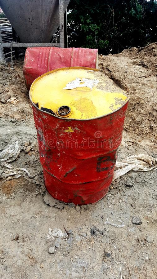 Old oil drum royalty free stock photos