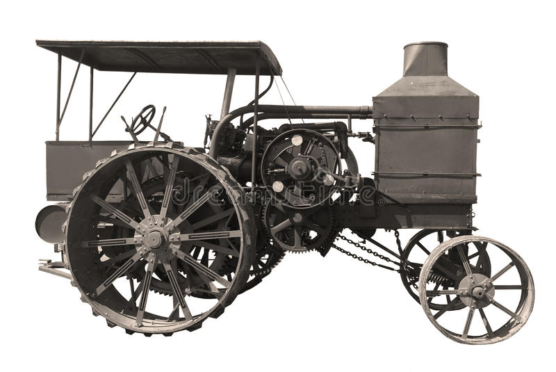 Old Oil pull tractor royalty free stock photo