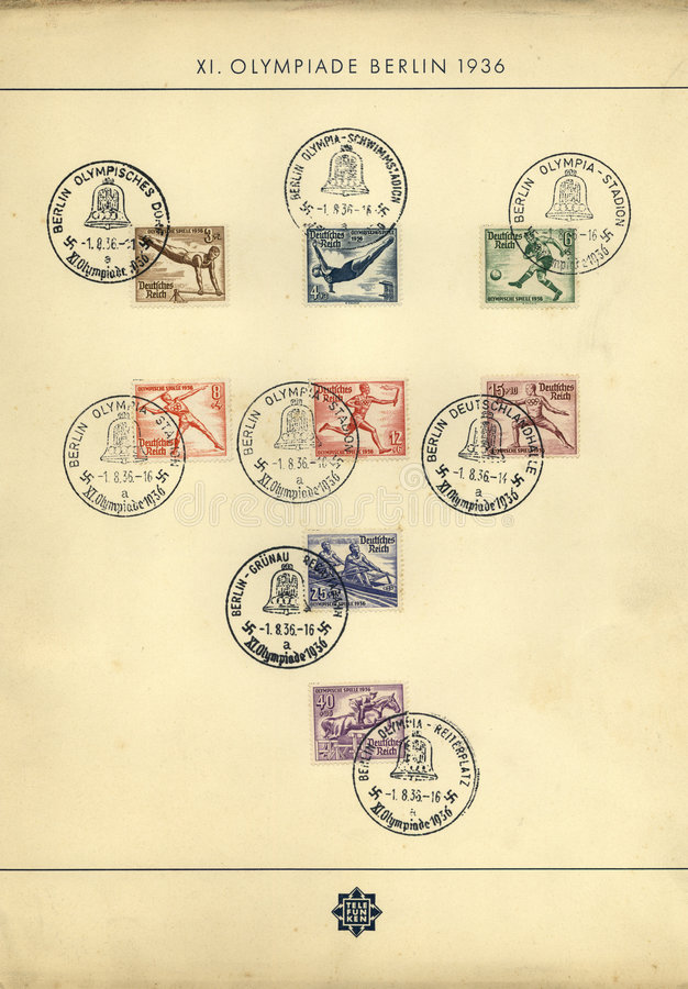 Download Old Olympic Games stamps stock photo. Image of stamp, football - 1766370