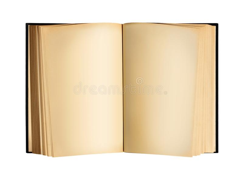 Old Open Antique Book With Blank Sheets stock photography