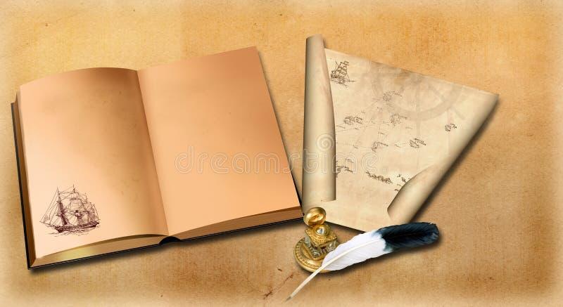 Old open book. royalty free stock photos