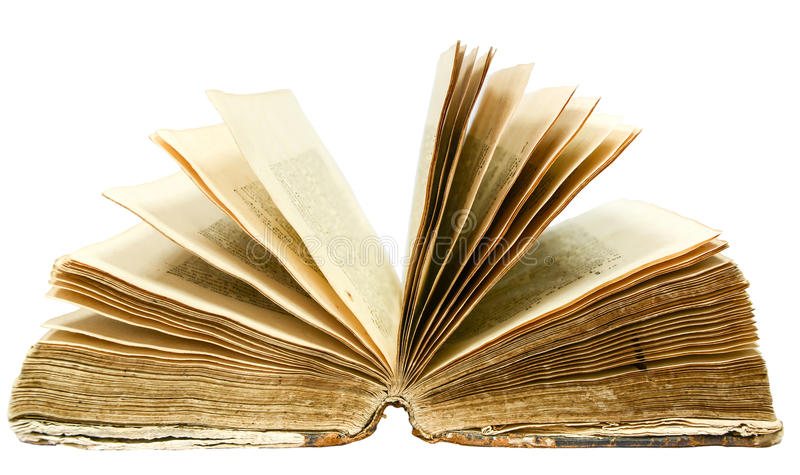Old open book royalty free stock images