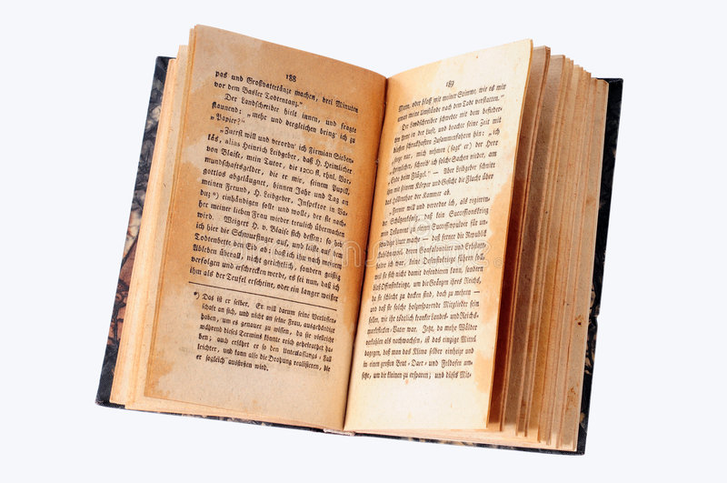 Old open book stock image