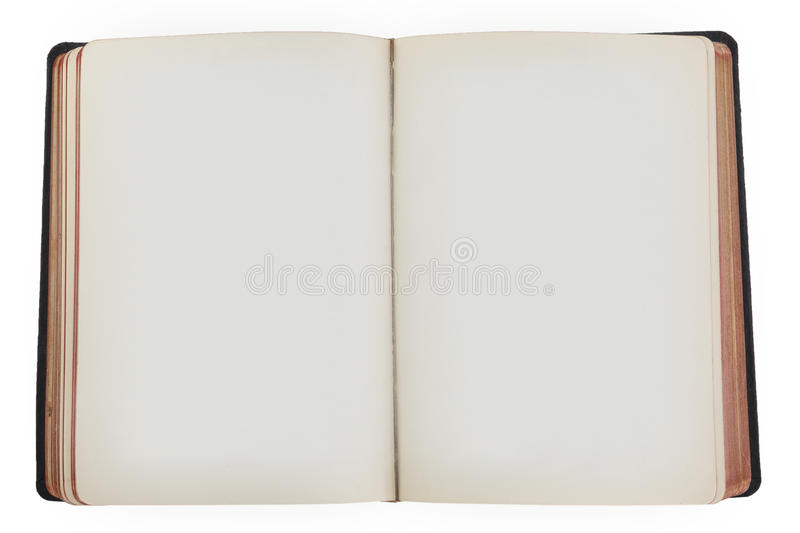 Old open book with empty pages. royalty free stock images