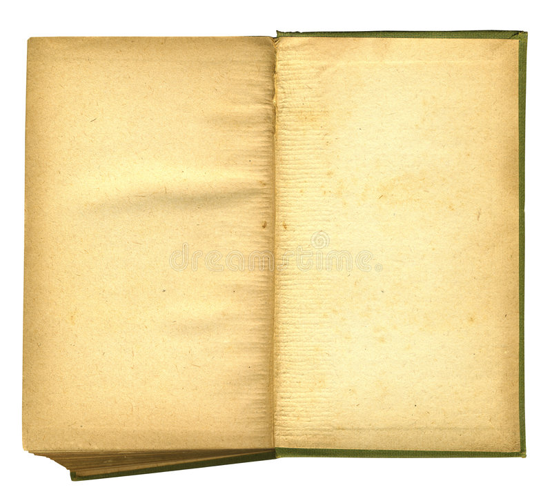 Download Old Open Book Featuring Rough Paper Texture Stock Image - Image: 4218185