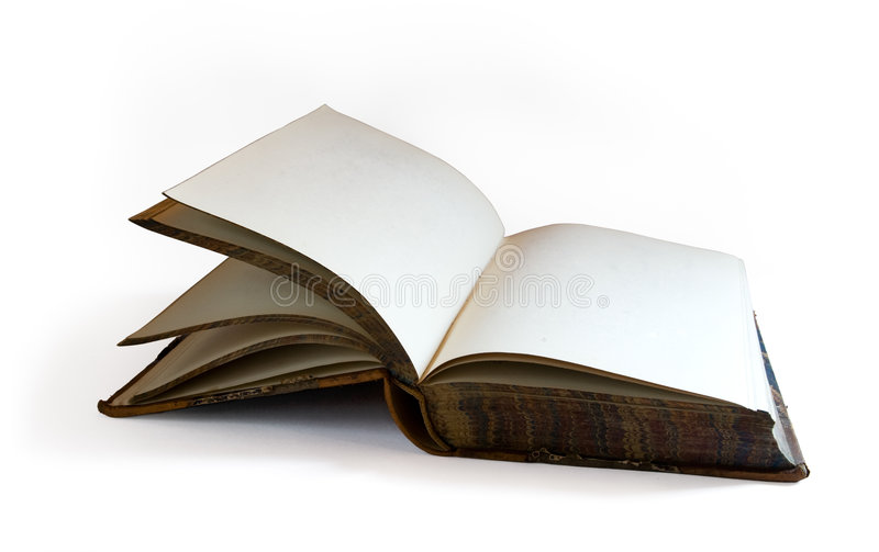 Download Old Open Book Isolated On White Royalty Free Stock Photos - Image: 6524288