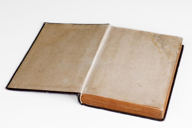 Old open book / photo album stock photos