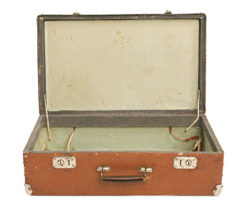 Download Old open Suitcase stock photo. Image of adventurous, destination - 3295918