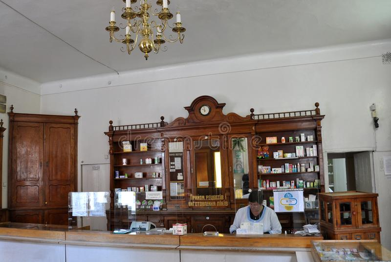 The old operating pharmacy editorial stock image  Image of