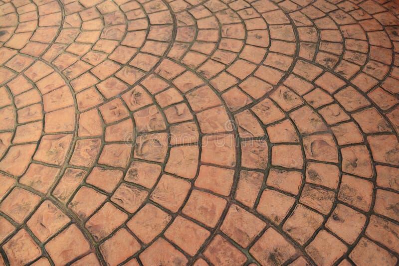 Old Orange Brick Floor Pattern Background Stock Image Image Of