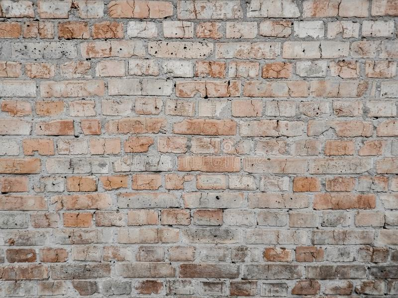 Old orange yellow brick wall royalty free stock image