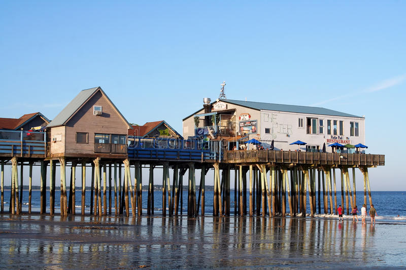 Download Old Orchard Beach, Maine editorial photo. Image of american - 21442196